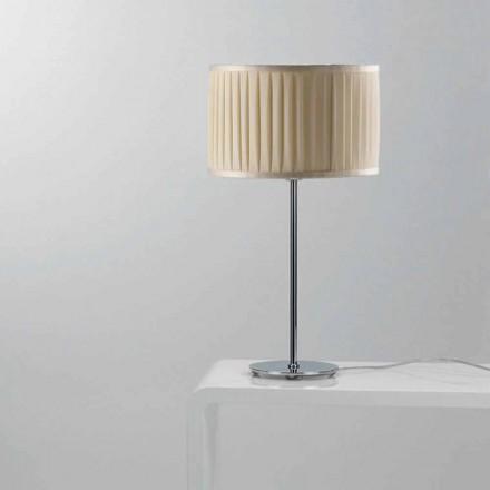 Lampa stołowa z jedwabiu kolor kość słoniowa Bamboo