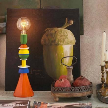 Lampa stołowa kolorowa Slide Otello z aluminium, made in Italy