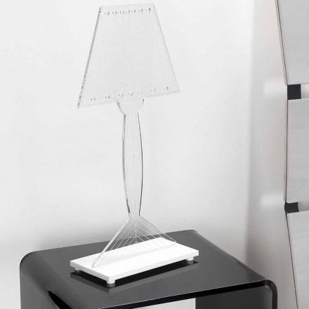 Formowana lampa stołowa z pleksi, światła LED, Ferla