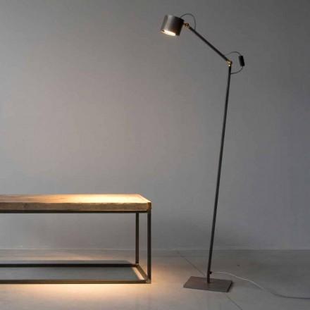 Ręcznie robiona lampa podłogowa z wytrawionego żelaza Made in Italy - Vanda