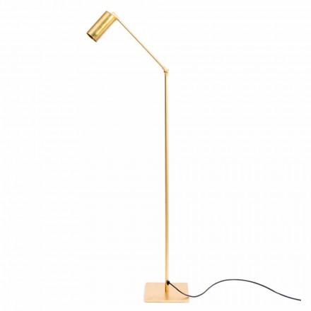 Lampa podłogowa Artisan z naturalnego mosiądzu z diodą LED Made in Italy - Agio