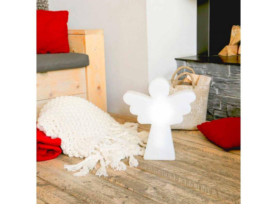 Biała lampa podłogowa E27, Led lub Solar Angel Nowoczesny design - Angelostar