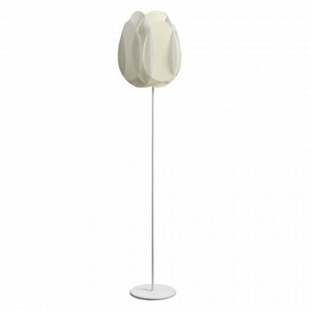 Lampa podłogowa z abażurem biała perła 40x195 cm Lora