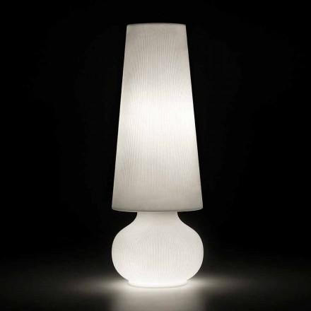 Zewnętrzna lampa podłogowa ze strukturą polietylenową Made in Italy - Desmond