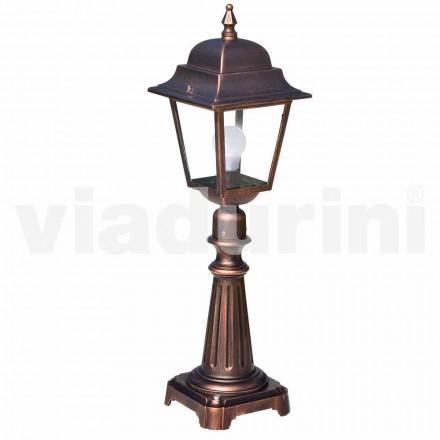 Zewnętrzna lampa podłogowa wykonana z aluminium produkowanego we Włoszech, Aquilina