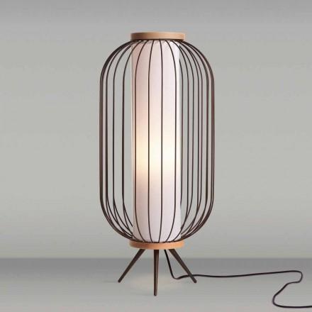 Nowoczesna lampa podłogowa o średnicy 37xH80 cm Fanny