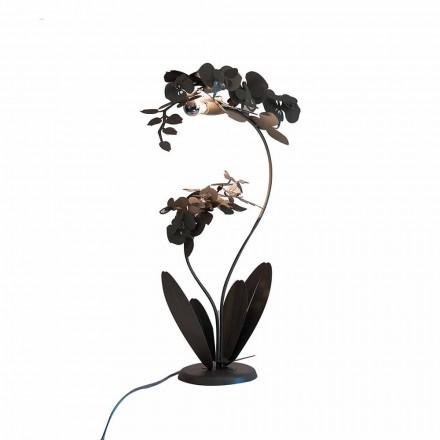 Żelazna lampa podłogowa o nowoczesnym designie Made in Italy - Amorpha