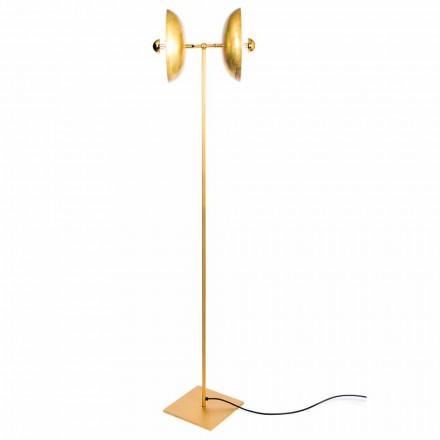 Ręcznie robiona lampa podłogowa z naturalnego mosiądzu Made in Italy - Salina