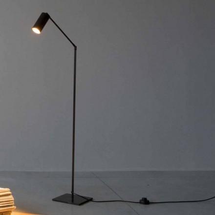 Lampa podłogowa z żelaza i aluminium z regulowanym światłem Made in Italy - Farla