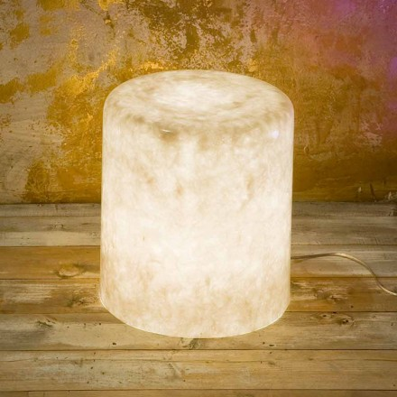 Designerska lampa podłogowa z nebulitu In-es.artdesign Bin F Nebula