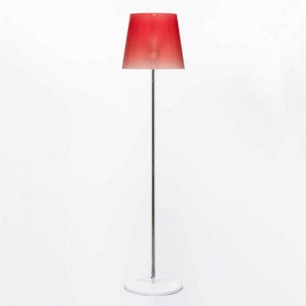 Lampa podłogowa z poliwęglanu o średnicy 42 cm Rania