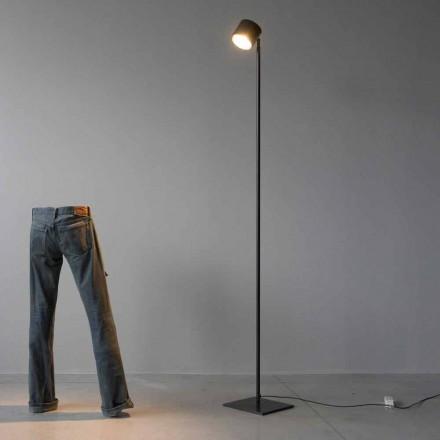 Minimalistyczna lampa podłogowa z żelaza i czarnego aluminium Made in Italy - Osiris