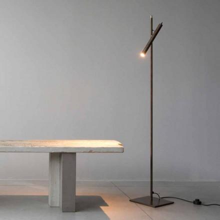 Lampa podłogowa z żelaza w złotym wykończeniu Made in Italy - Ginia