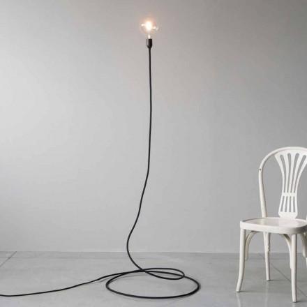 Nowoczesna lampa podłogowa z ręcznie robionej miedzi i bawełny Made in Italy - Guapa