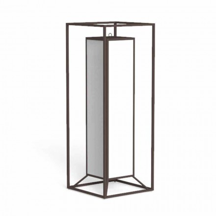 Zewnętrzna latarnia podłogowa z kolorowej stali, luksusowa lampa Led - Cleo firmy Talenti