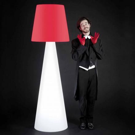 Lampa biała stojąca design Slide Pivot, wykonany we wloszech