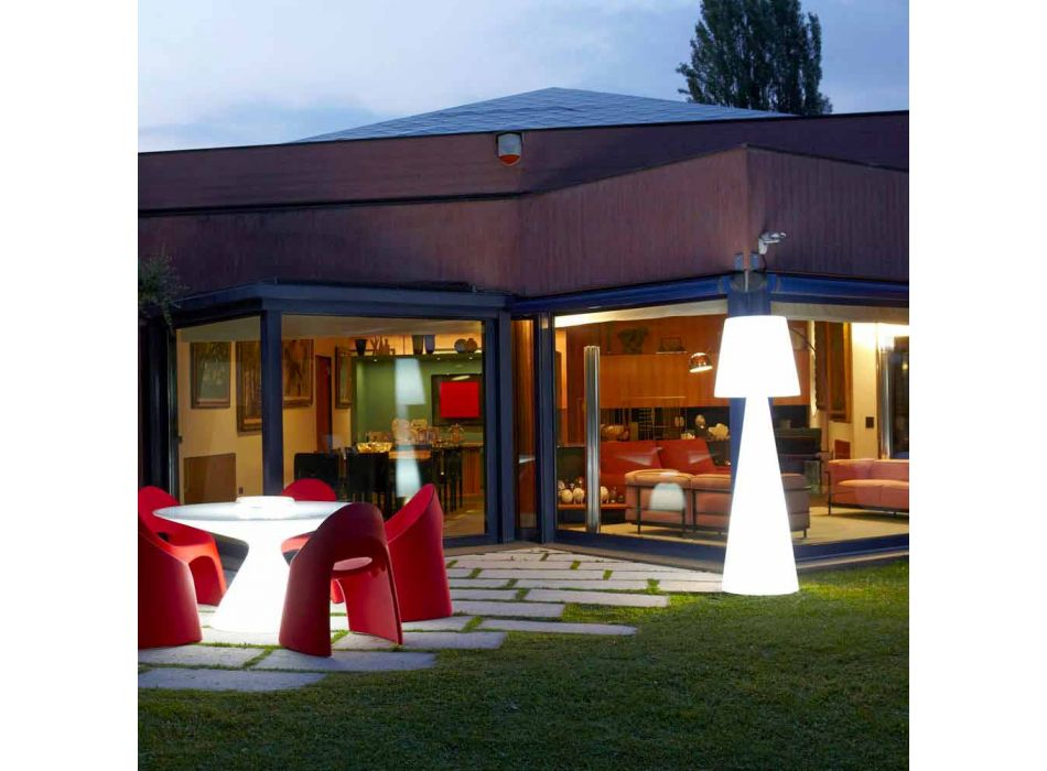 Wewnętrzna lampa podłogowa Slide Pivot jasna biała wykonana we Włoszech