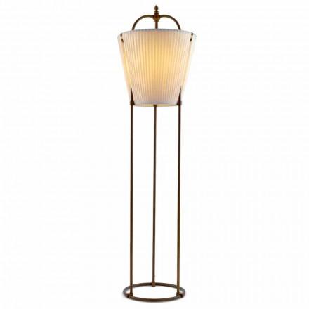 Lampa stojąca Tenarungaz mosiądzu, 1 światło