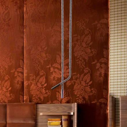 Lampa wiszaca design z skory i metalu Grilli Snake made in Italy