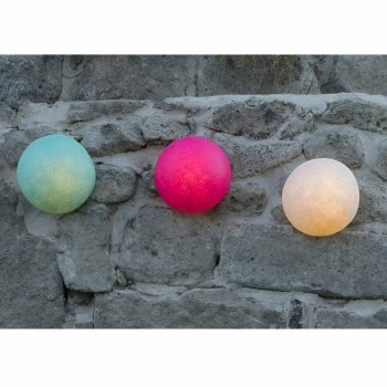 Design wall lamp In-es.artdesign Przycisk w kolorowym nebulicie