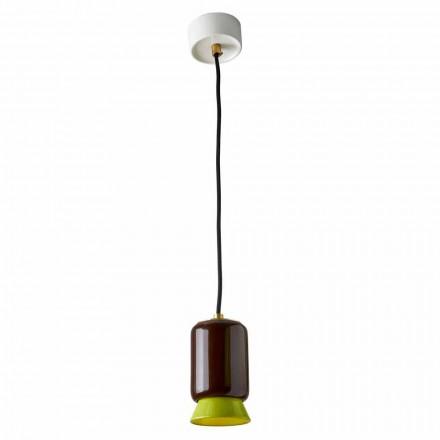 Lampa wisząca w kolorze ceramicznym wykonana we Włoszech w Azji