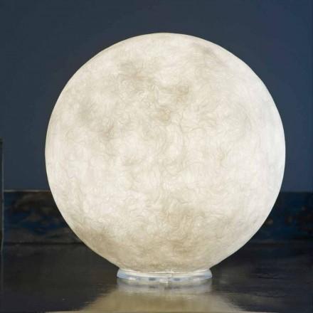 Lampa stołowa In-es.artdesign T.moon w białym nebulicie