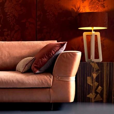 Lampa stolowa z drewna lakierowana Grilli Barnaby made in Italy