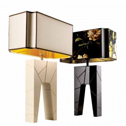 Lampa nocna z drewna design, Grilli Zarafa made in Italy