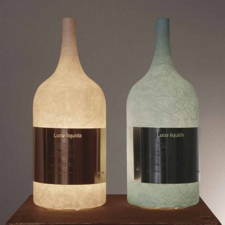 Lampa stołowa w kolorowym nebulicie In-es.artdesign Luce Liquid1