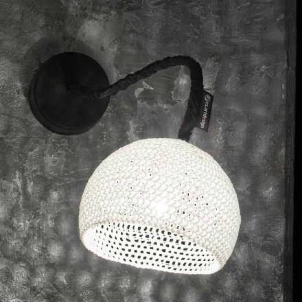 Lampa ścienna z żywicy i bawełny In-es.artdesign Nowoczesna struktura A1
