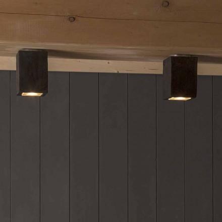 Zewnętrzne oświetlenie sufitowe LED w glinie, Smith - Toscot