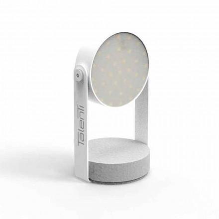 Zewnętrzna lampa stołowa Led, białe aluminium lub grafit - Tofee firmy Talenti