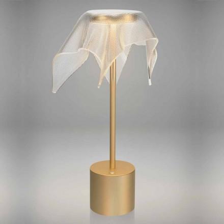 Lampa LED z kolorowego metalu i przezroczystego pryzmatycznego pleksi - Tagalong