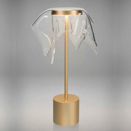 Dotykowa lampa LED z kolorowego metalu i przezroczystego pleksi - Tagalong
