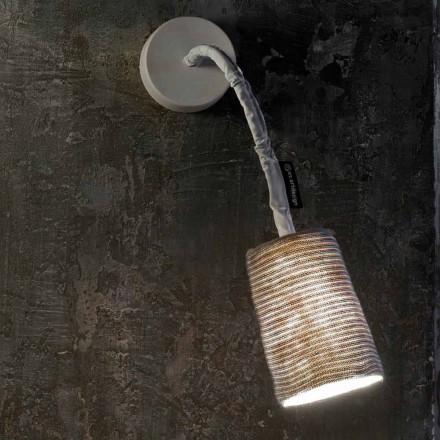 Nowoczesna lampa ścienna In-es.artdesign Paint A Stripe nebulit i wełna