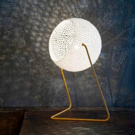 Nowoczesna lampa stołowa In-es.artdesign Ręcznie wykonana bawełna T1