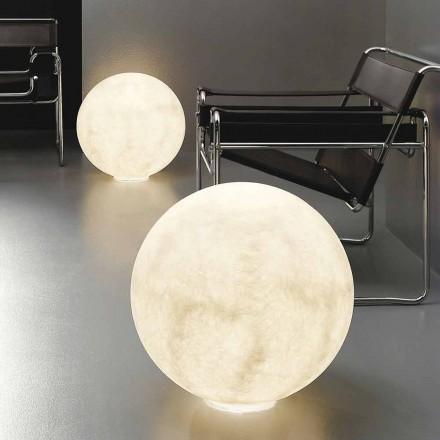 Nowoczesna sferyczna lampa stołowa In-es.artdesign Nebulit podłogowy Moon