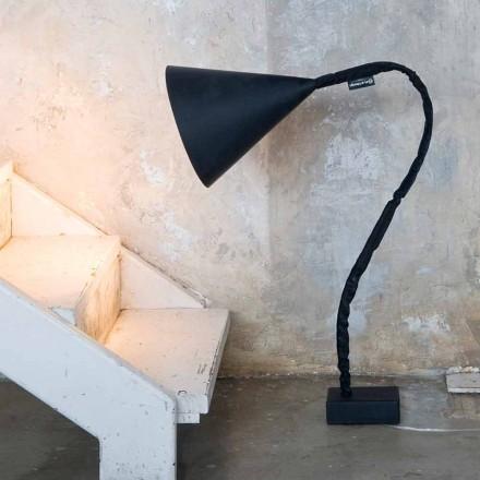 Nowoczesna lampa podłogowa In-es.artdesign Flower Blackboard z żywicy