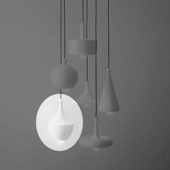 Nowoczesna lampa wisząca z ceramiki Made in Italy - Lustrini L3 Aldo Bernardi