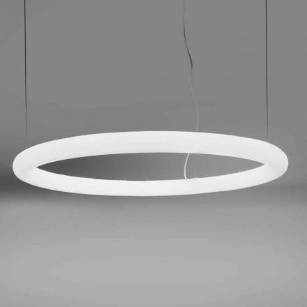 Okrągła lampa wisząca LED z polietylenu Made in Italy - Slide Giotto