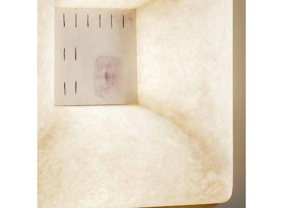 Biała nebulitowa lampa ścienna In-es.artdesign Dada Luna 1 design