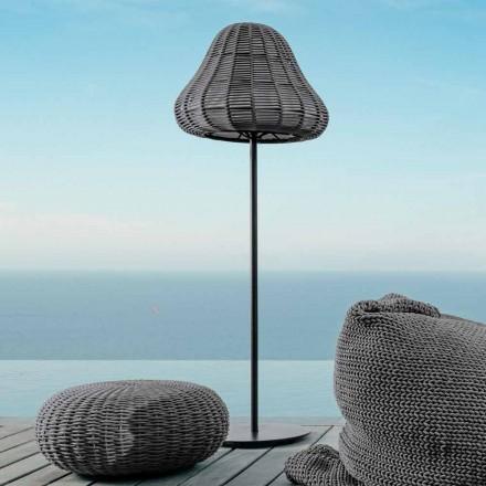 Lampa podłogowa z nowoczesnym desingiem Jackie by Talenti z syntetycznego sznurka