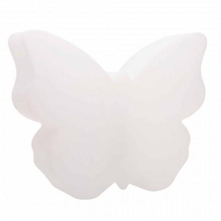 Lampa stołowa lub podłogowa do wnętrz lub na zewnątrz, biały motyl - Farfallastar