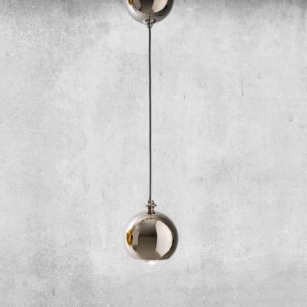 Nowoczesna lampa wisząca z ceramiki Made in Italy - Lustrini L5 Aldo Berrnardi