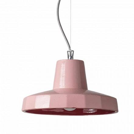 30cm lampa wisząca z mosiądzu i toskańskiej maioliki, Rossi Toscot