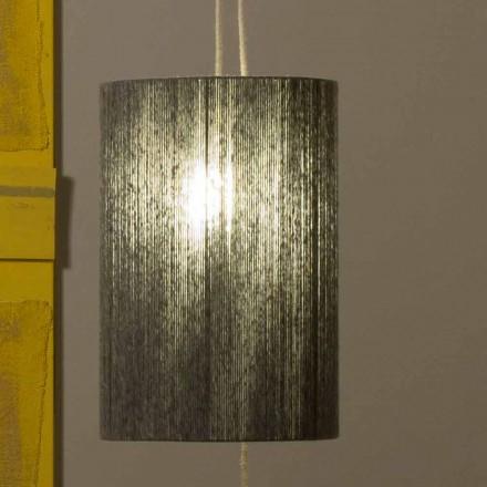 Lampa wisząca / podłogowa z mosiądzu i wełny wykonana we Włoszech Evita