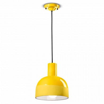 Nowoczesna lampa wisząca z ceramiki Made in Italy - Ferroluce Caxixi