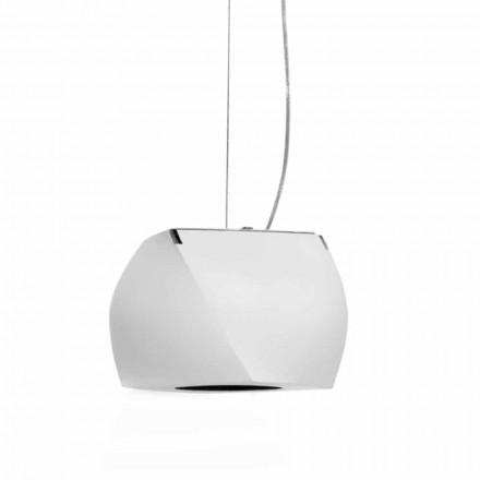 Lampa wisząca z metalu i białej żywicy Made in Italy - Beijing