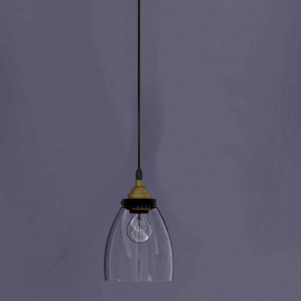 Zaprojektuj lampę wiszącą z metalu i przezroczystego szkła Made in Italy - Clizia