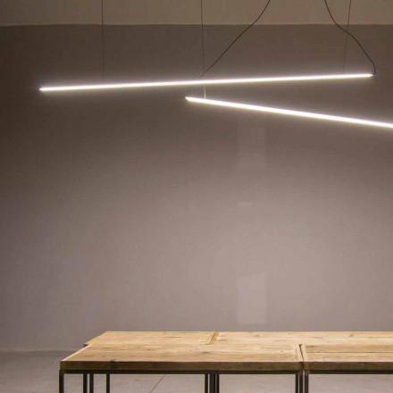 Lampa wisząca wykonana ręcznie z aluminium z listwą LED Made in Italy - Ledda